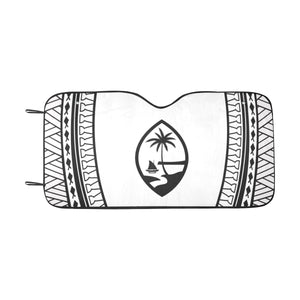 Guam Seal Black and White Car Sun Shade