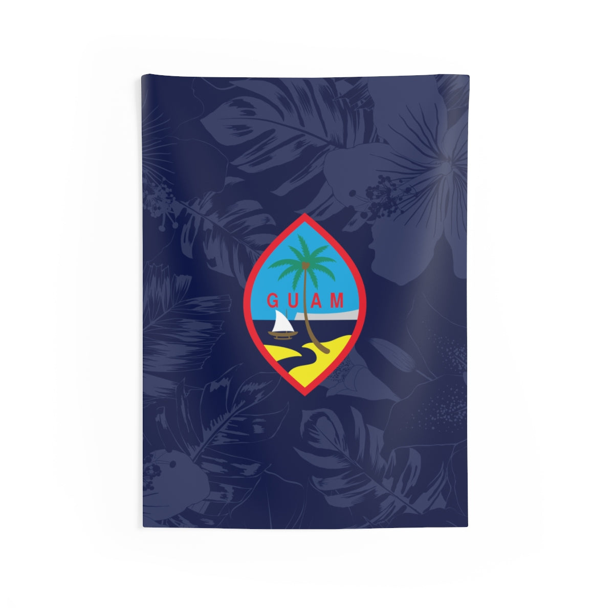 Guam Flag Hibiscus Indoor Wall Tapestry