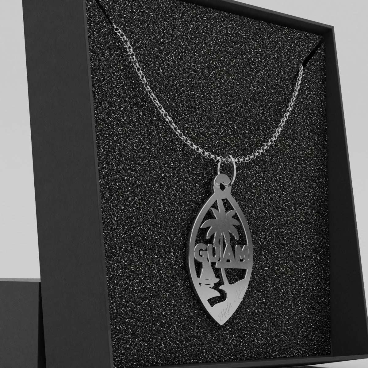Guam Seal Sterling Silver Necklace