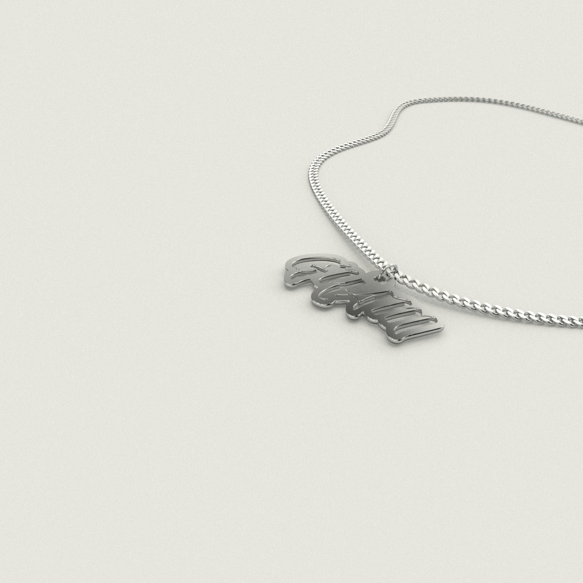 Guam Cutout Sterling Silver Necklace