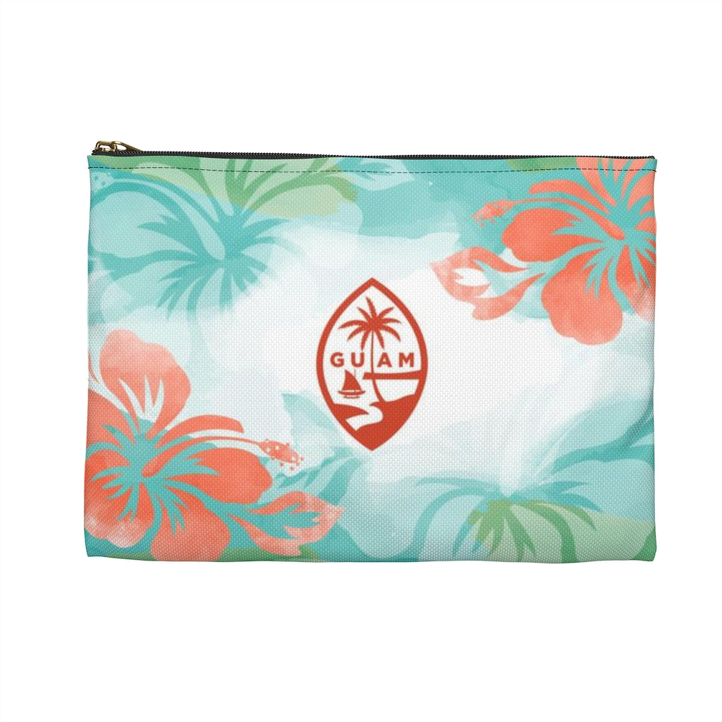Hafa Adai Guam Chamorro Hibiscus Accessories Carry All Pouch