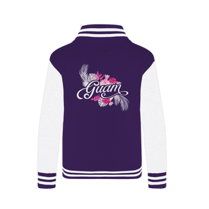 Guam Purple Floral Varsity Jacket