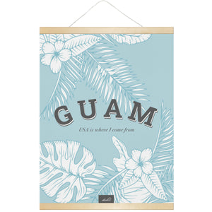 Guam USA Hanging Canvas Poster with Wood Frame
