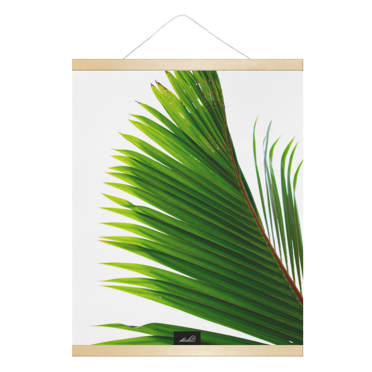 Coconut Tree Leaf Guam CNMI Hanging Canvas Poster with Wood Frame