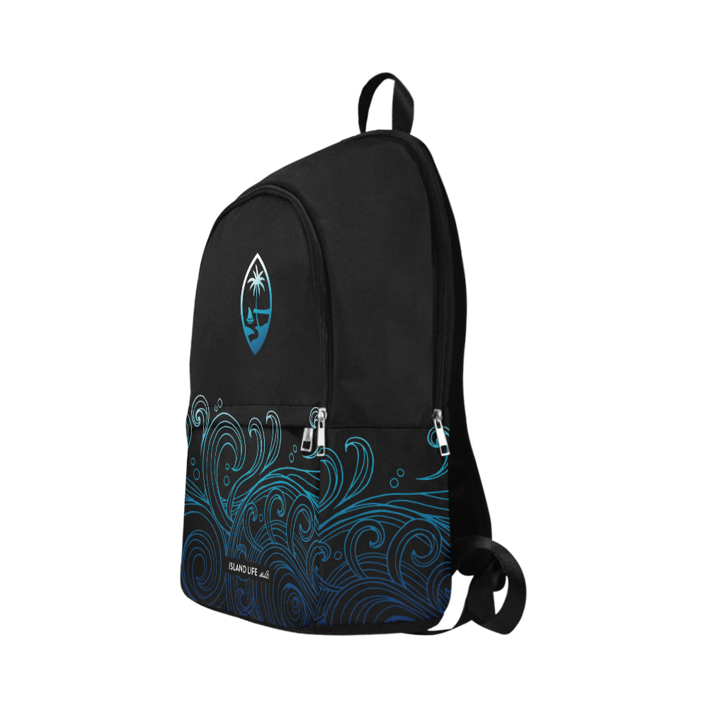 Guam Black Ombre Waves Laptop Backpack