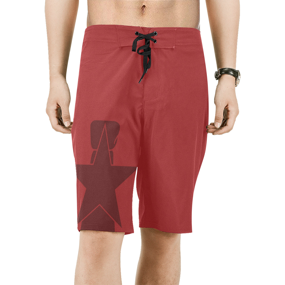 CNMI Seal Saipan Red Men's All Over Print Board Shorts
