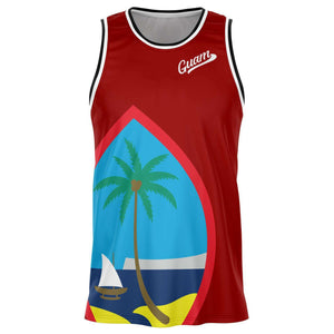 Guam Seal Red Basketball Jersey