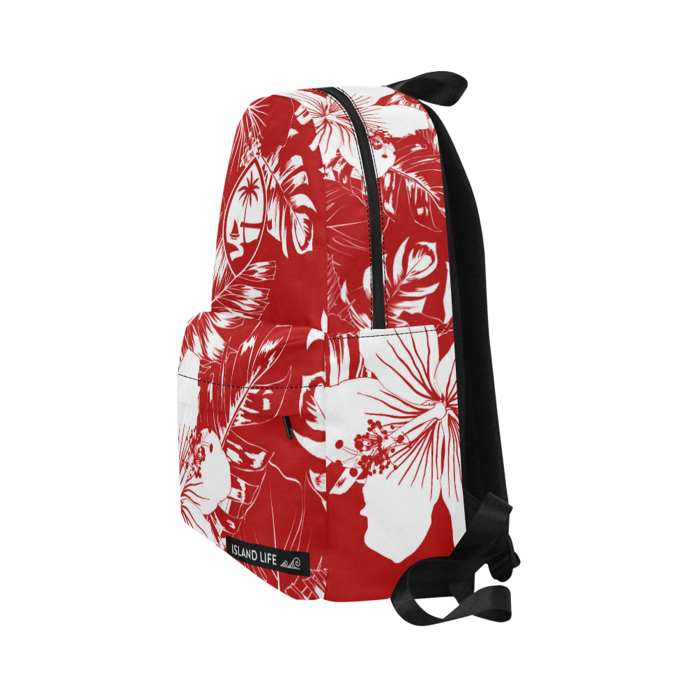 Guam Red Floral Unisex Classic Backpack