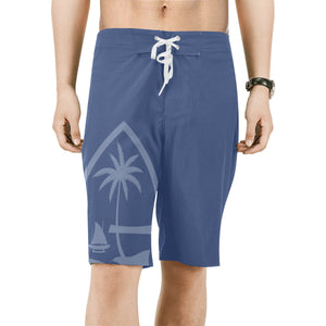 Guam Seal Mens Blue All Over Print Board Shorts