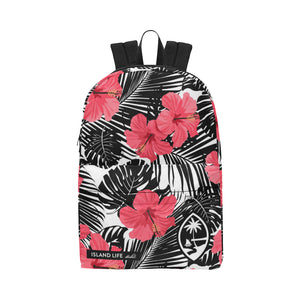 Guam Pink Black Hibiscus Leaves Unisex Classic Backpack