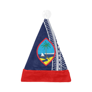 Guam Blue Tribal Santa Hat