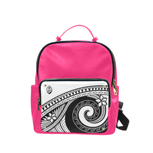 Guam Seal White Tribal Pink Campus Backpack