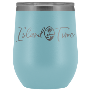 Island Time Guam Seal Wine Tumbler