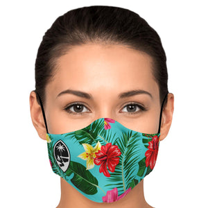 Guam Tropical Neon Face Mask for Youth and Adults