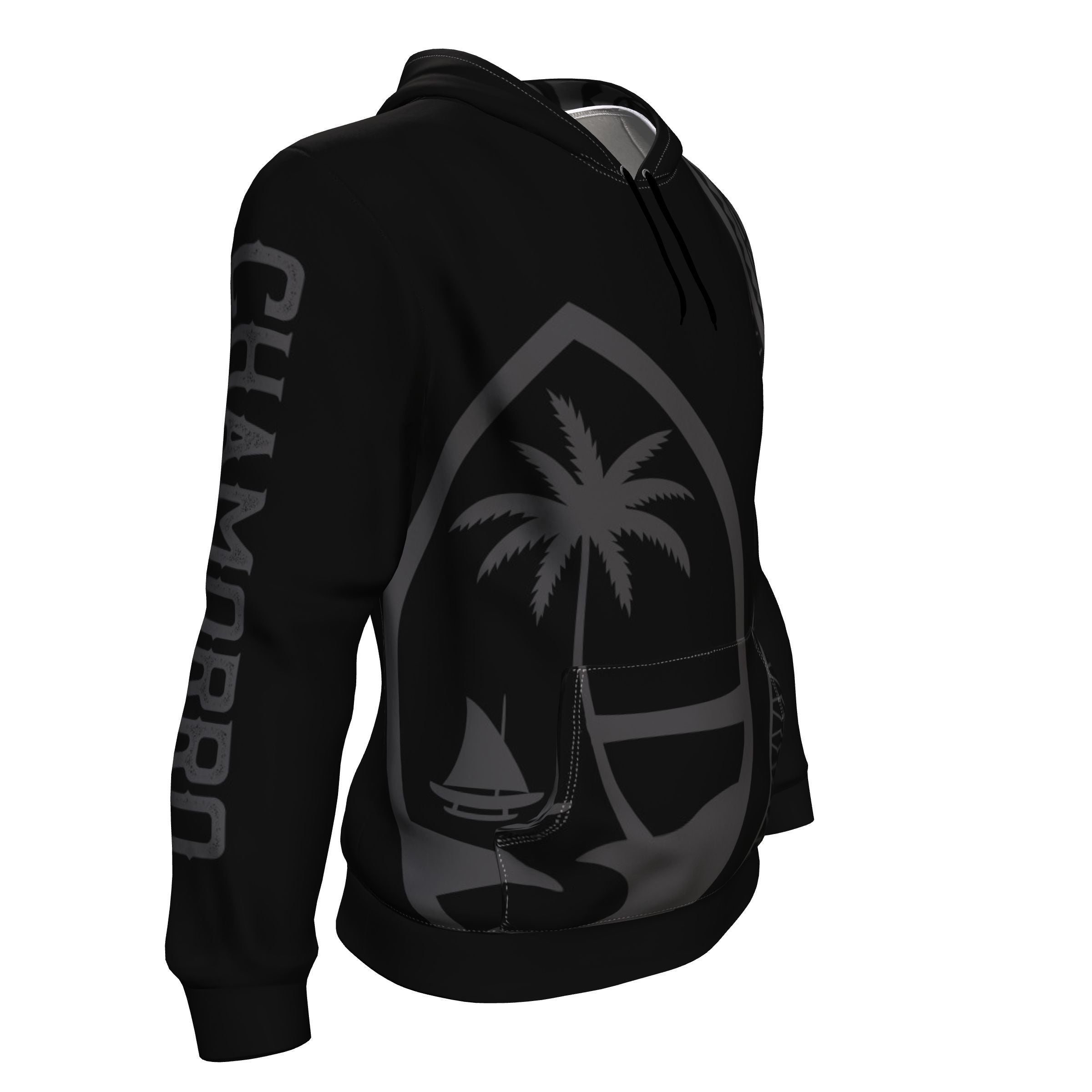 Tribal CHAMORRO Guam Seal All Over Black Pullover Hoodie
