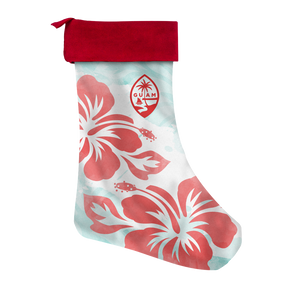 Guam Seal Tropical Hibiscus Christmas Stocking