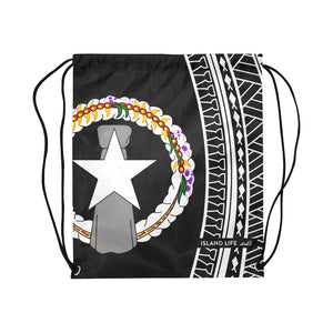 CNMI Tribal Large Drawstring Bag