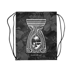 Latte Stone Tribal Large Drawstring Bag