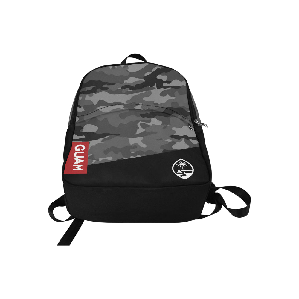 Guam Halftone Gray Camo Laptop Backpack