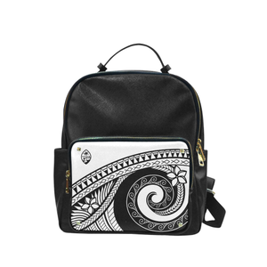 Guam Seal White Tribal White Campus Backpack