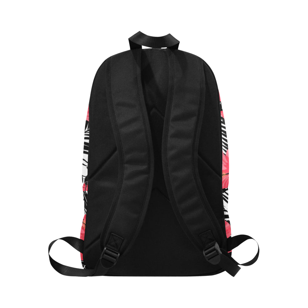 Guam Pink Black Hibiscus Leaves Laptop Backpack