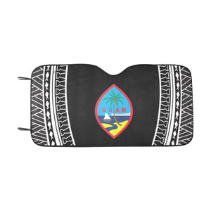 Guam Seal Tribal Black Car Sun Shade