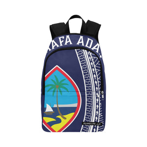 Hafa Adai Guam Tribal Blue Laptop Backpack