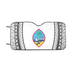 Guam Seal Tribal White Car Sun Shade