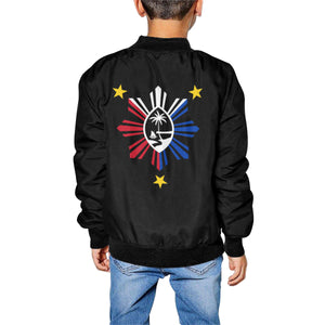 Kids Guam PI Black Bomber Jacket