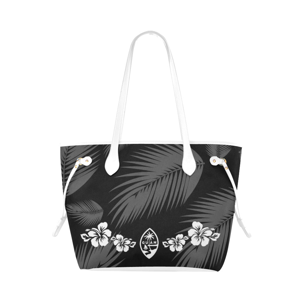 Guam Seal Hibiscus Leaves Canvas Tote Bag