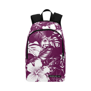 Guam Purple Floral Laptop Backpack
