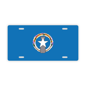 CNMI Flag Saipan Tinian Rota Car License Plate