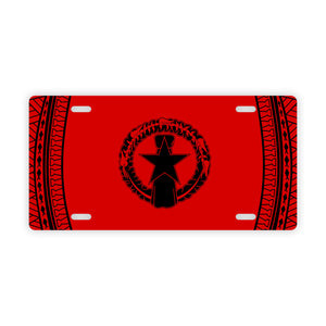 CNMI Flag Saipan Tinian Rota Red Car License Plate