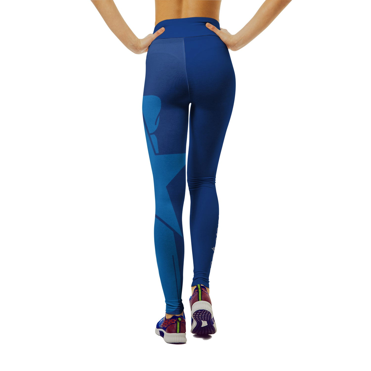 Island Girl CNMI Seal Blue Yoga Leggings