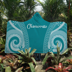 Chamorrita Guam Saipan Rota Tinian Tribal Hooded Blanket