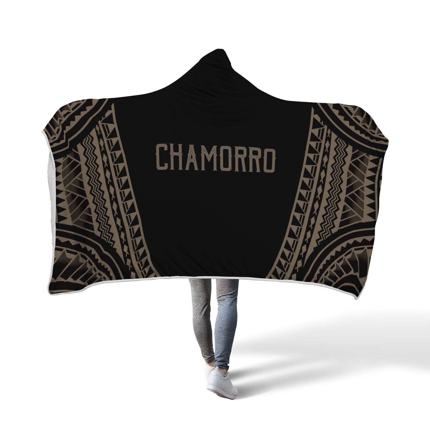 Chamorro Guam Saipan Rota Tinian Tribal Hooded Blanket