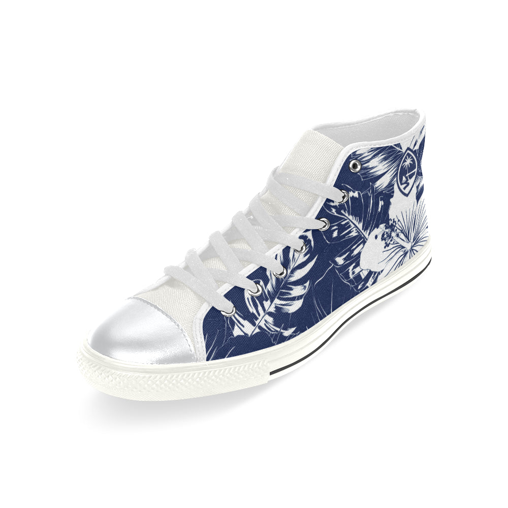 Guam Blue Floral High Top Shoe Kids