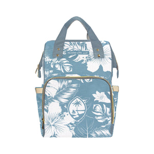 Guam Slate Floral Baby Diaper Backpack Bag