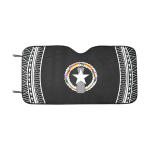 CNMI Tribal Saipan Tinian Rota Black Car Sun Shade