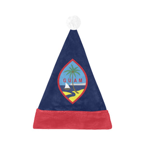 Guam Flag Christmas Santa Hat