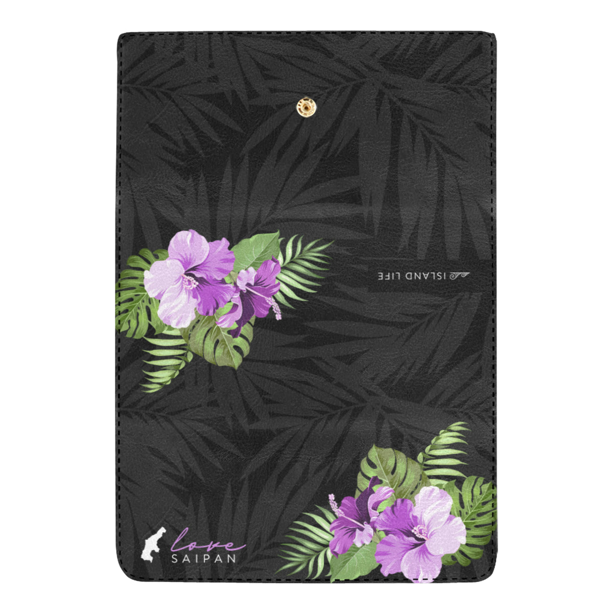 Love Saipan Purple Hibiscus Women's Trifold Wallet