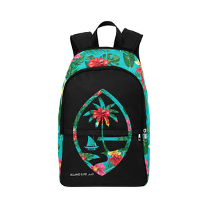 Floral Guam Seal Laptop Backpack