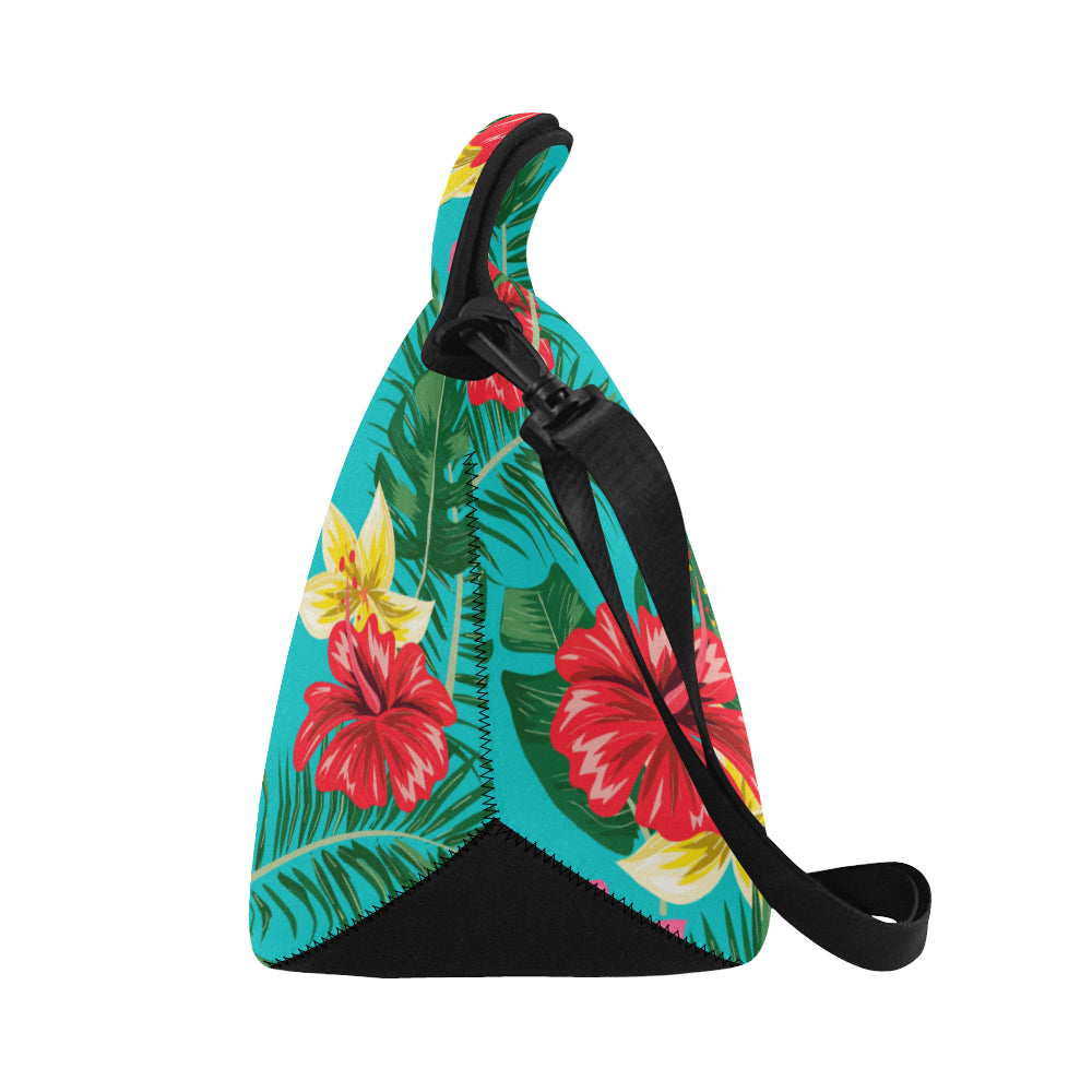 Floral Guam Neoprene Lunch Bag Large