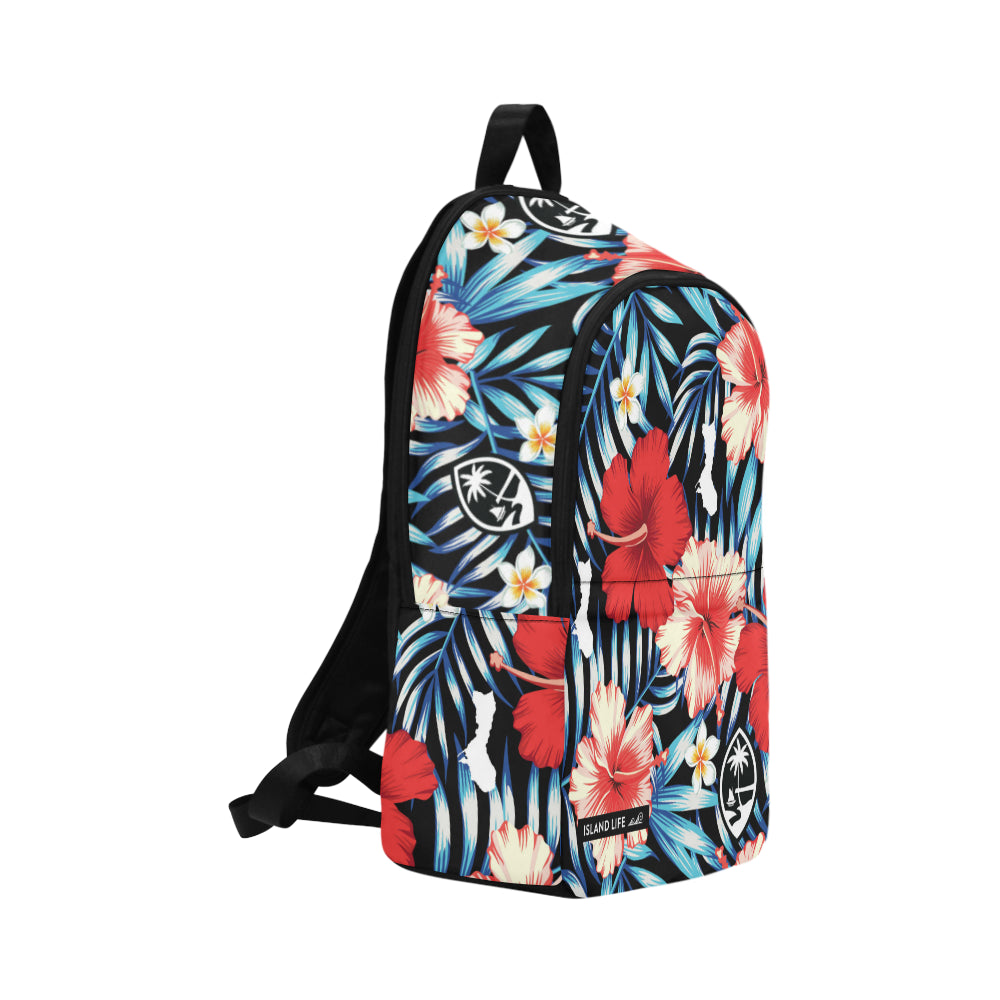 Guam Tropical Floral Laptop Backpack