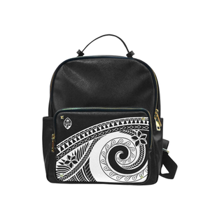 Guam Seal Black Tribal Black Campus Backpack
