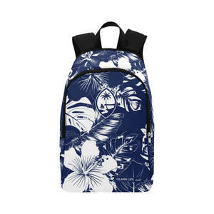 Guam Blue Floral Laptop Backpack