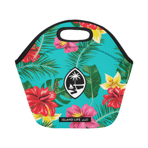 Floral Guam Neoprene Lunch Bag Small