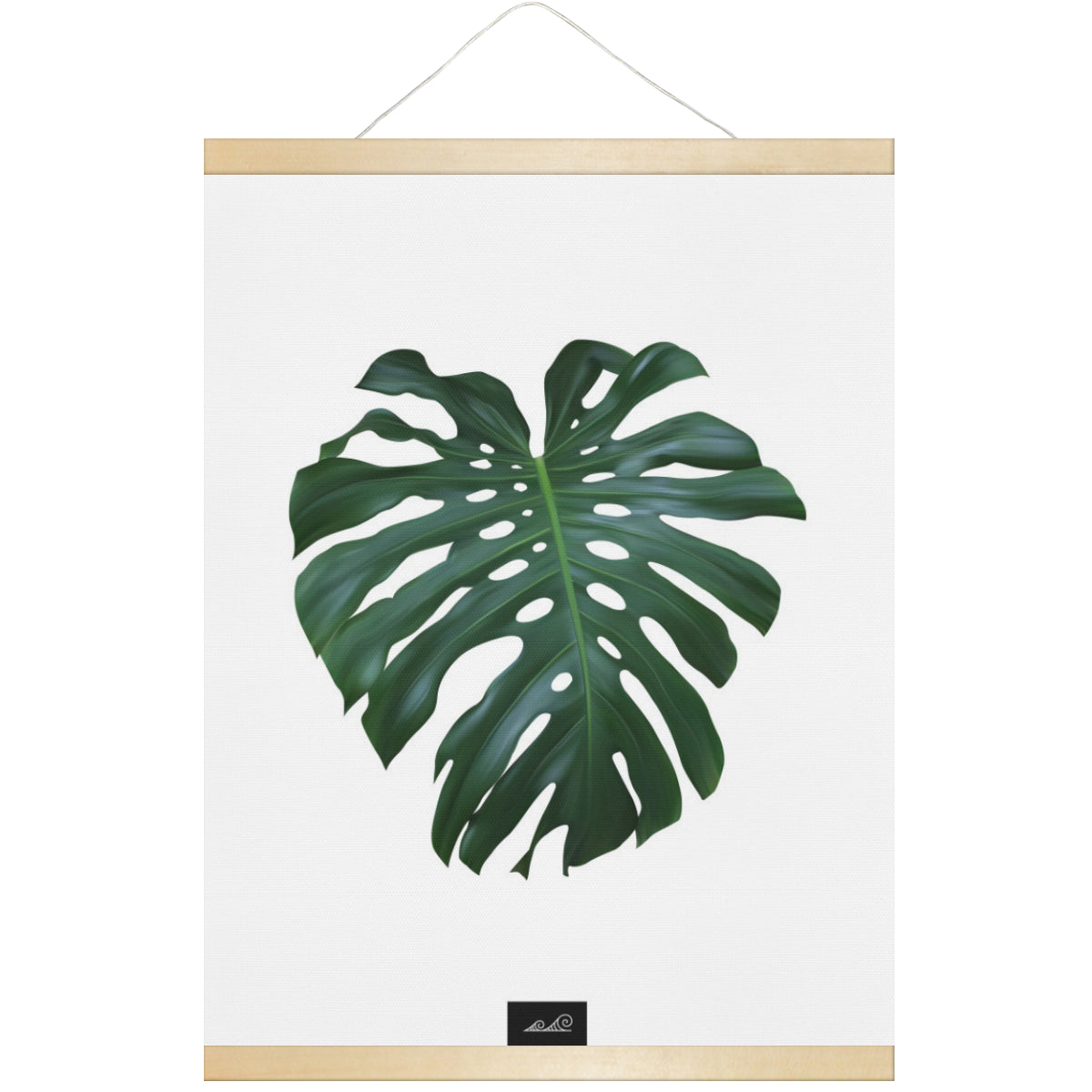 Lemai Leaf Guam CNMI Hanging Canvas Poster with Wood Frame