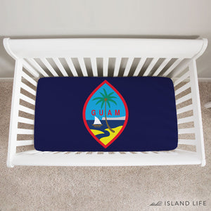 Guam Flag Baby Crib Sheet
