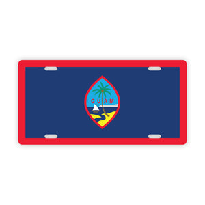 Guam Flag Car License Plate